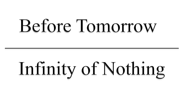 Infinity of Nothing